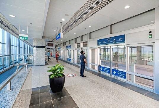 Palm Monorail's waiting station in Dubai