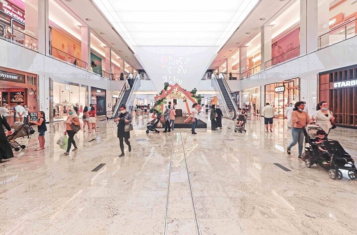 Visitors at Nakheel Mall in Dubai